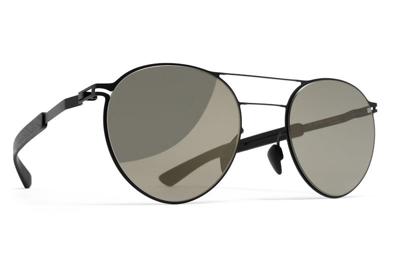 MYKITA Mylon Sunglasses - Elder MH1 - Black/Pitch Black with Gunmetal Flash Lenses