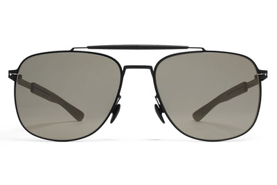 MYKITA Mylon Sunglasses - Elon MH1 - Black/Pitch Black with Gunmetal Flash Lenses
