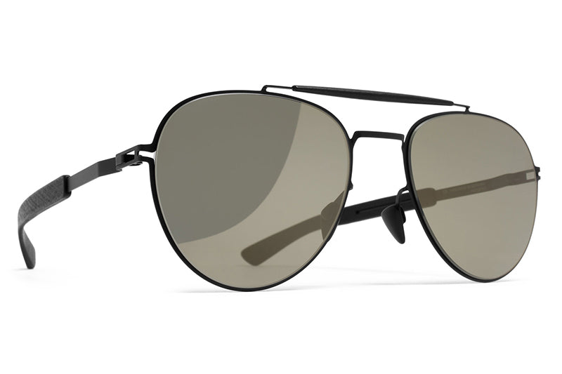 MYKITA Mylon Sunglasses - Sloe MH1 - Black/Pitch Black with Gunmetal Flash Lenses