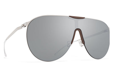 MYKITA - Agave Mylon Sunglasses MH18 - Taupe Grey/Shiny Silver with Silver Flash Lenses
