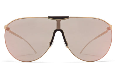 MYKITA - Agave Mylon Sunglasses MH8 - Ebony Brown/Champagne Gold with Champagne Gold Lenses