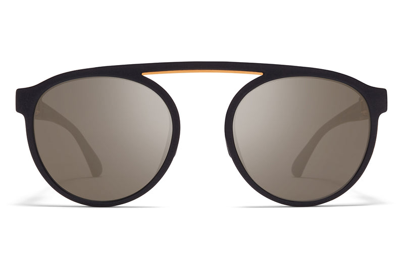 MYKITA - Altos Mylon Sunglasses MMT3 - Pitch Black/Glossy Gold with Gun Metal Flash Lenses