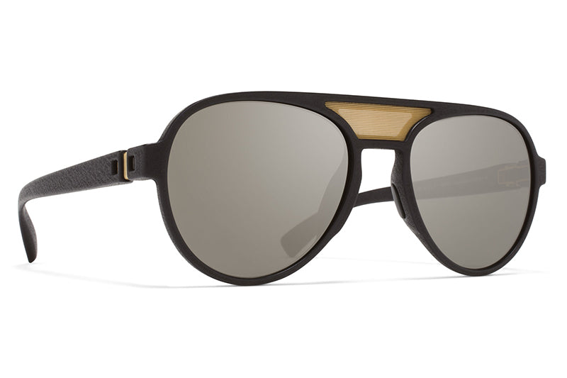 MYKITA Mylon Sunglasses - Aphex MME1 - Pitch Black/Gold Mesh