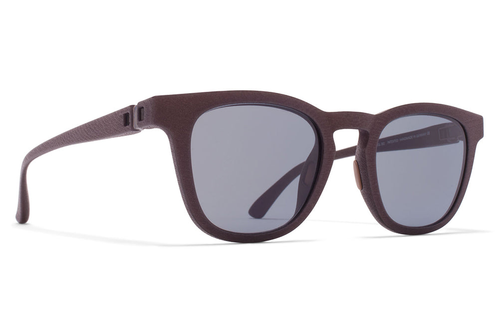 MYKITA - Balta Mylon Sunglasses MD22 - Ebony Brown with Pale Blue Solid Lenses