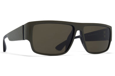 MYKITA Mylon - Boom Sunglasses MDL11 - Pitch Black/Camou Green Raw Green Solid Lenses