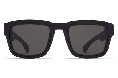 MYKITA - Boost Sunglasses MD1 - Pitch Black with Grey Solid Lenses