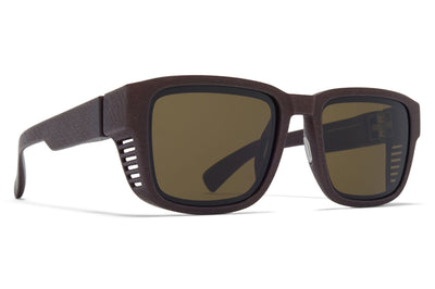 MYKITA - Boost Sunglasses MD22 - Ebony Brown with Raw Green Solid Lenses