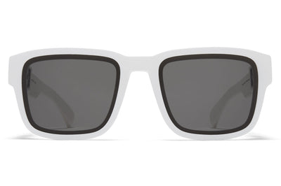 MYKITA Mylon - Boost Sunglasses MD29 - White with Grey Solid Lenses