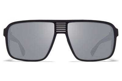 MYKITA Mylon - Canyon Sunglasses MD1 - Pitch Black with Light Silver Flash Lenses
