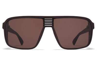 MYKITA Mylon - Canyon Sunglasses MD22 - Ebony Brown with Raw Fern Solid Lenses