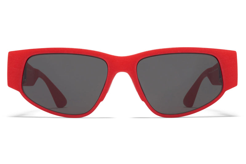 MYKITA - Cash Sunglasses MD5 - Crimson Red with Grey Solid Lenses