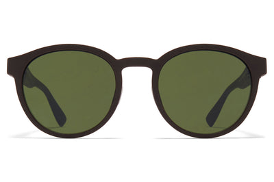MYKITA Mylon - Coleman Sunglasses MD22 - Ebony Brown with Green Solid Lenses