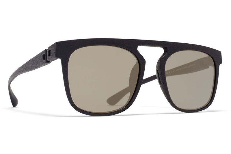 MYKITA Mylon Sunglasses - Delta MD1 - Pitch Black with Gun Metal Flash Lenses
