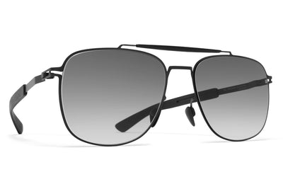 MYKITA Mylon Sunglasses - Elon MH1 - Black/Pitch Black with Grey Gradient Lenses