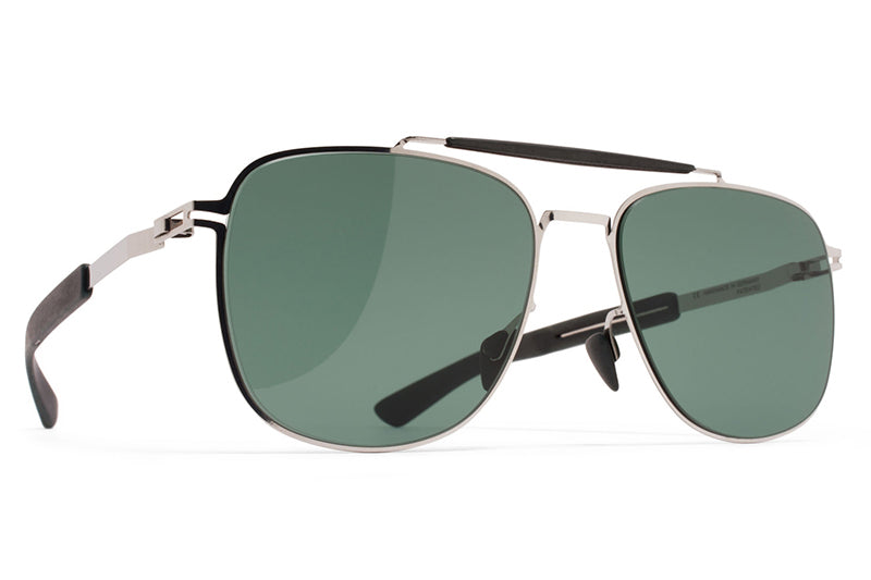 MYKITA Mylon Sunglasses - Elon MH3 - Silver/Storm Grey with Neophan Solid Lenses
