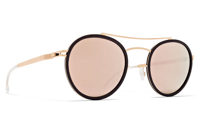 MYKITA MYLON - Hay Sunglasses MH8 - Ebony Brown/Champagne Gold with Champagne Gold Lenses