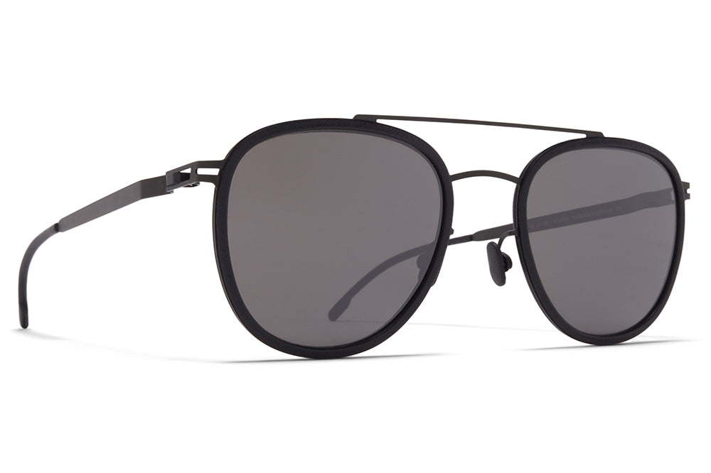 MYKITA - Hops Mylon Sunglasses MH6 - Pitch Black/Black with Mirror Black Lenses