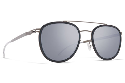 MYKITA - Hops Mylon Sunglasses MH9 - Storm Grey/Shiny Graphite with Light Silver Flash Lenses