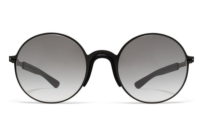 MYKITA Mylon Sunglasses - Ivy MH1 - Black/Pitch Black with Grey Gradient Lenses