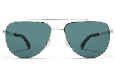 MYKITA - Leaf Mylon Sunglasses MH10 - Navy Blue/Shiny Silver with Neophan Polarized Lenses