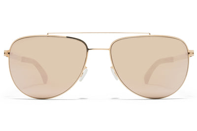 MYKITA - Leaf Mylon Sunglasses MH8 - Ebony Brown/Champagne Gold with Champagne Gold Lenses