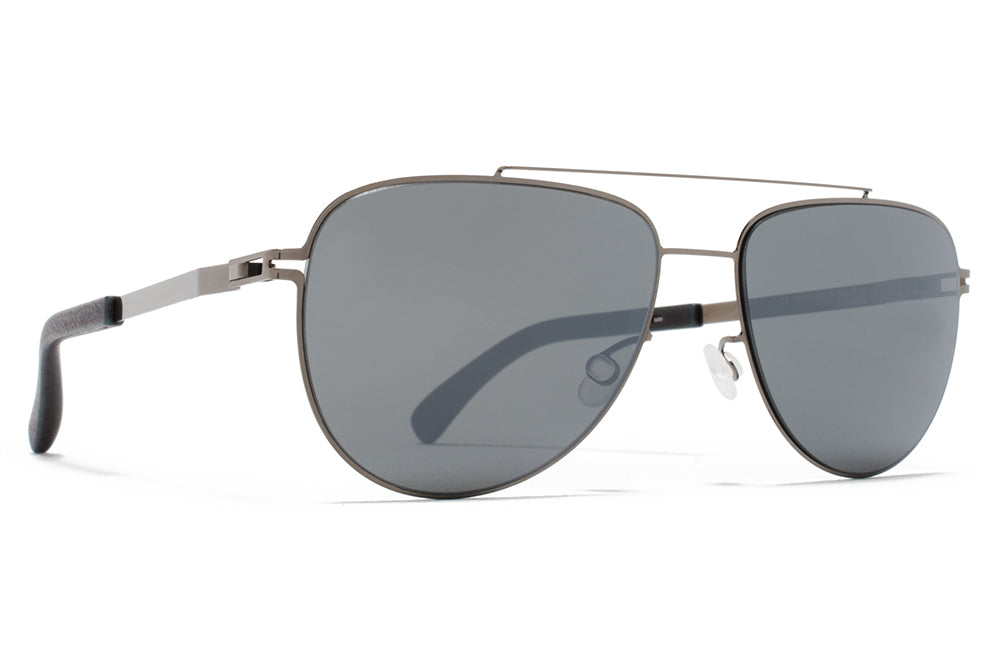 3395ecf19c MYKITA - Leaf Mylon Sunglasses MH9 - Storm Grey Shiny Graphite with Neophan Polarized  Lenses