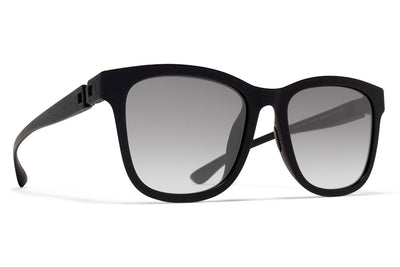 MYKITA Mylon Sunglasses - Levante MD1 - Pitch Black with Gun Metal Flash Lenses
