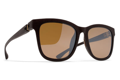 MYKITA Mylon Sunglasses - Levante MD22 - Ebony Brown with Sienna Brown Flash Lenses