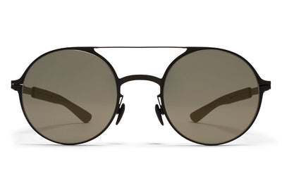 MYKITA Mylon Sunglasses - Lupine MH1 - Black/Pitch Black with Gunmetal Flash Lenses