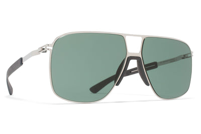 MYKITA Mylon Sunglasses - Oak MH3 - Silver/Storm Grey with Neophan Solid Lenses