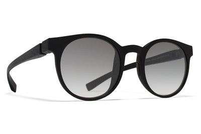 MYKITA Mylon Sunglasses - Omega MD1 - Pitch Black with Grey Gradient Lenses