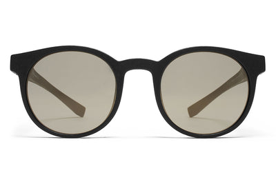 MYKITA Mylon Sunglasses - Omega MD1 - Pitch Black with Gun Metal Flash Lenses