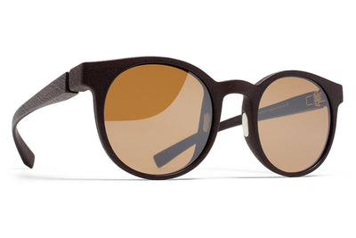 MYKITA Mylon Sunglasses - Omega MD22 - Ebony Brown with Sienna Brown Flash Lenses