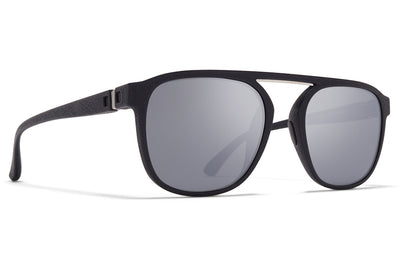 MYKITA - Pabu Mylon Sunglasses MMT2 - Pitch Black/Shiny Silver with Light Silver Flash Lenses