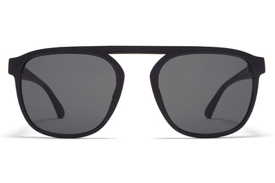 MYKITA - Pabu Mylon Sunglasses MMT5 - Pitch Black/Shiny Black with Mirror Black Lenses
