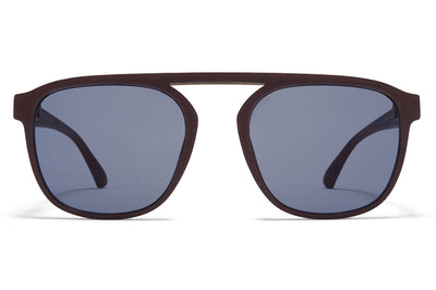 MYKITA - Pabu Mylon Sunglasses MMT8 - Ebony Brown/Shiny Graphite with Dark Blue Solid Lenses
