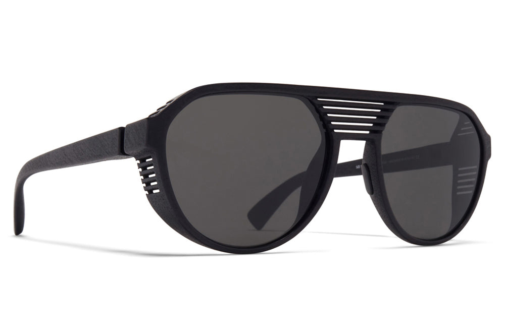 MYKITA Mylon - Peak Sunglasses MD1 - Pitch Black with Dark Grey Solid Lenses
