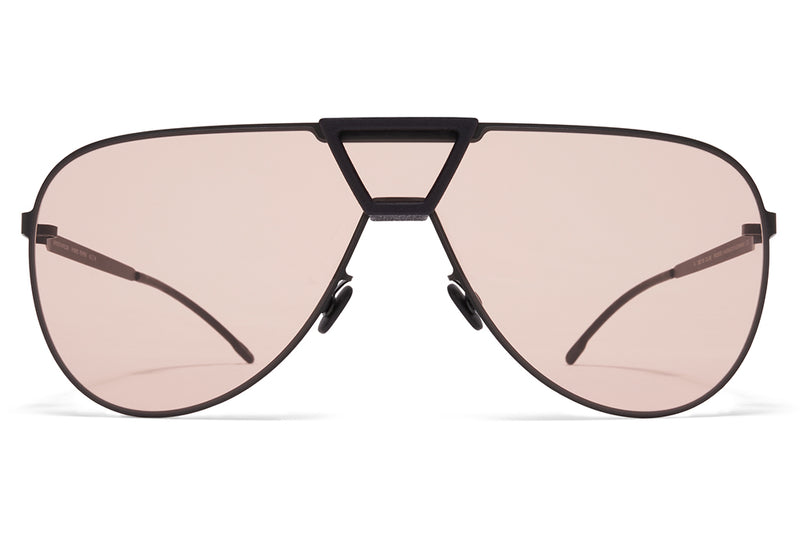 MYKITA - Pepper Mylon Sunglasses MH1 - Black/Pitch Black with Nude Solid Shield