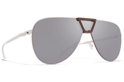 MYKITA - Pepper Mylon Sunglasses MH8 - Ebony Brown/Champagne Gold with Champagne Gold Lenses