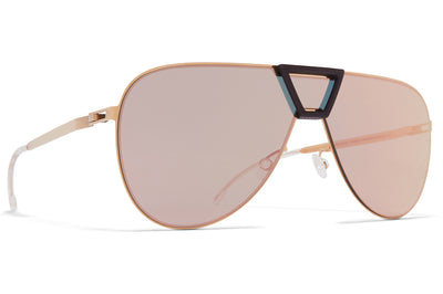 MYKITA - Pepper Mylon Sunglasses MH18 - Taupe Grey/Shiny Silver with Silver Flash Lenses