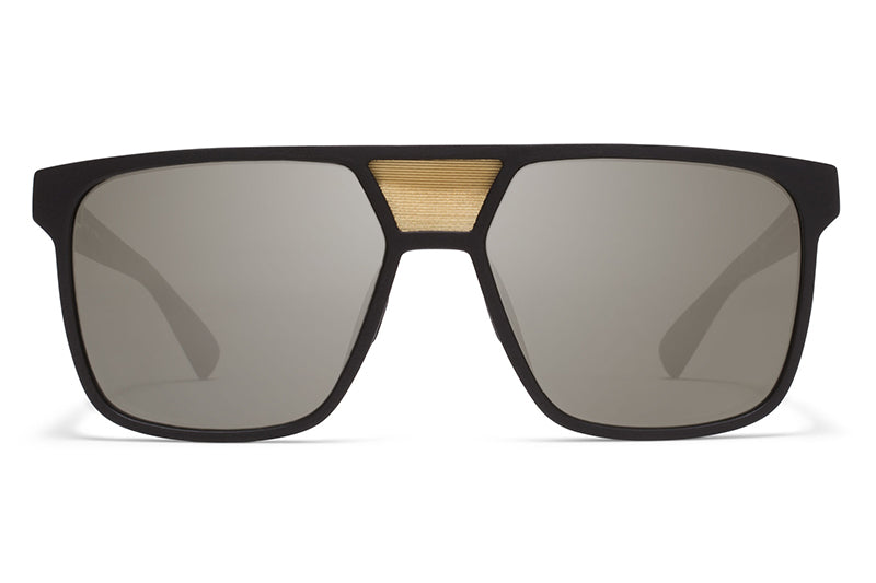 MYKITA Mylon Sunglasses - Prodigy MME1 - Pitch Black/Gold Mesh with Gun Metal Flash Lenses