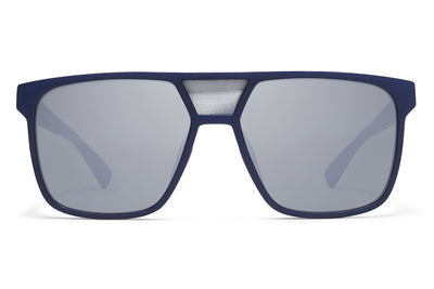 MYKITA Mylon Sunglasses - Prodigy MME4 - Navy Blue/Silver Mesh with Light Silver Flash Lenses