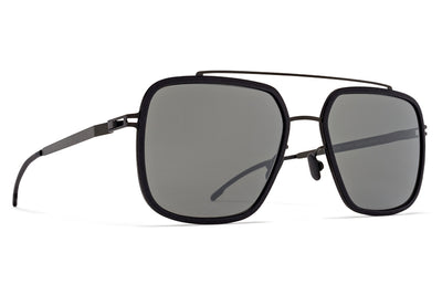 MYKITA Mylon - Reed Sunglasses MH6 - Pitch Black/Black with Mirror Black Lenses