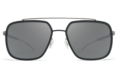 MYKITA Mylon - Reed Sunglasses MH9 - Storm Grey/Shiny Graphite with Light Silver Flash Lenses