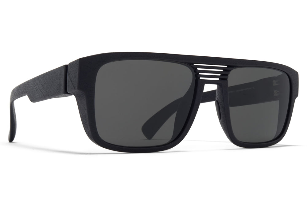 MYKITA - Ridge Sunglasses MD1 - Pitch Black with Dark Grey Solid Lenses