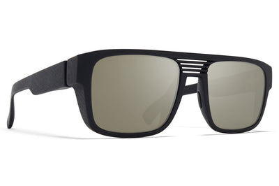 MYKITA - Ridge Sunglasses MD1 - Pitch Black with Gunmetal Flash Lenses