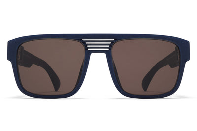 MYKITA - Ridge Sunglasses MD25 - Navy Blue with Brown Solid Lenses