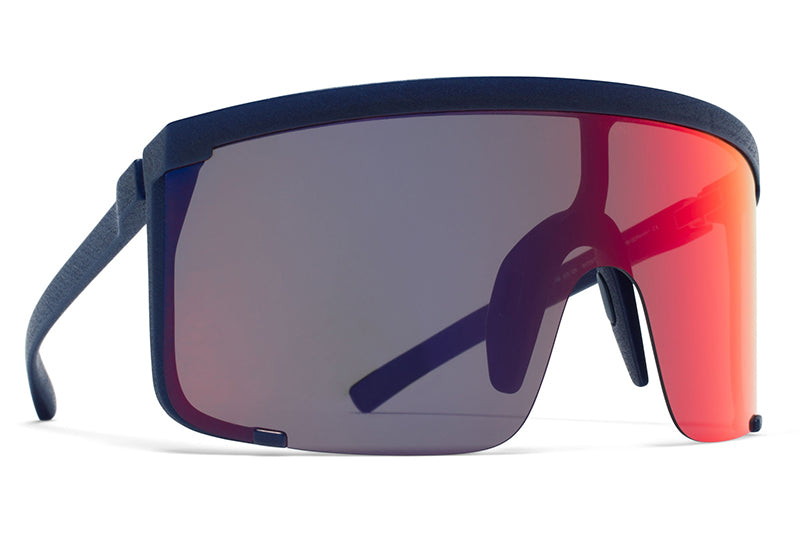 11404ced6c MYKITA Mylon Sunglasses - Rocket MD25 - Navy Blue with Scarlet Flash Shield