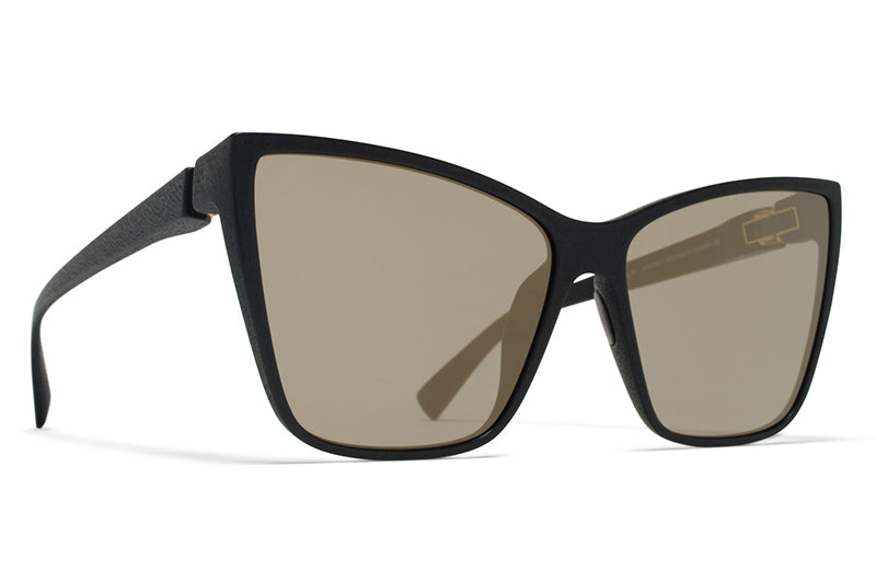 MYKITA Mylon Sunglasses - Roux MD1 - Pitch Black with Gun Metal Flash Lenses