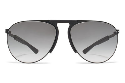 MYKITA Mylon Sunglasses - Rye MH1 - Black/Pitch Black with Grey Gradient Lenses